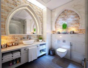 浴室, 蜡烛, 水龙头, 地板, 卫生间