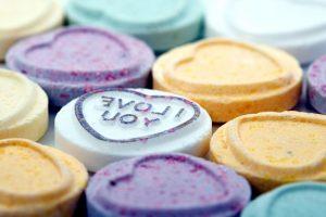 coeur de sucre de jour, des bonbons de la Saint-Valentin