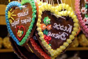 en forma de corazón, pasteles, decoraciones, día de San Valentín, amor