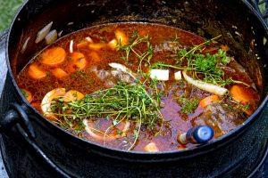 pikantná polievka, jedlo
