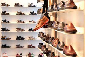 shoes, shelf, shoe store
