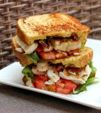 salade, broodje, plaat