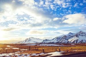 σύννεφα, κρύο, αυγή, δρόμος, κορυφή, βουνά