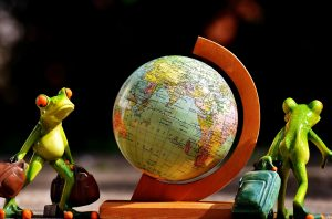 miniature globe, figures, toys