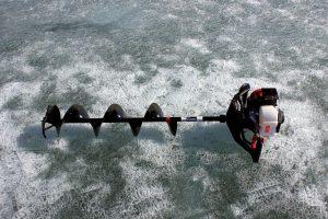 ice drill, tool, ice, winter