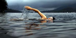 swimmer, lake