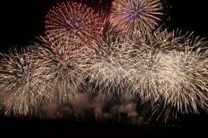 fuochi d'artificio, il cielo