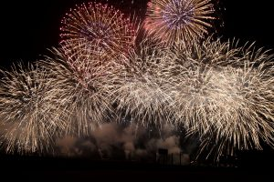 fireworks, sky