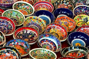 colorful Turkish bowls