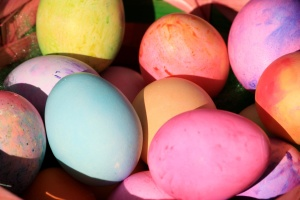 easter eggs, close up, colorful
