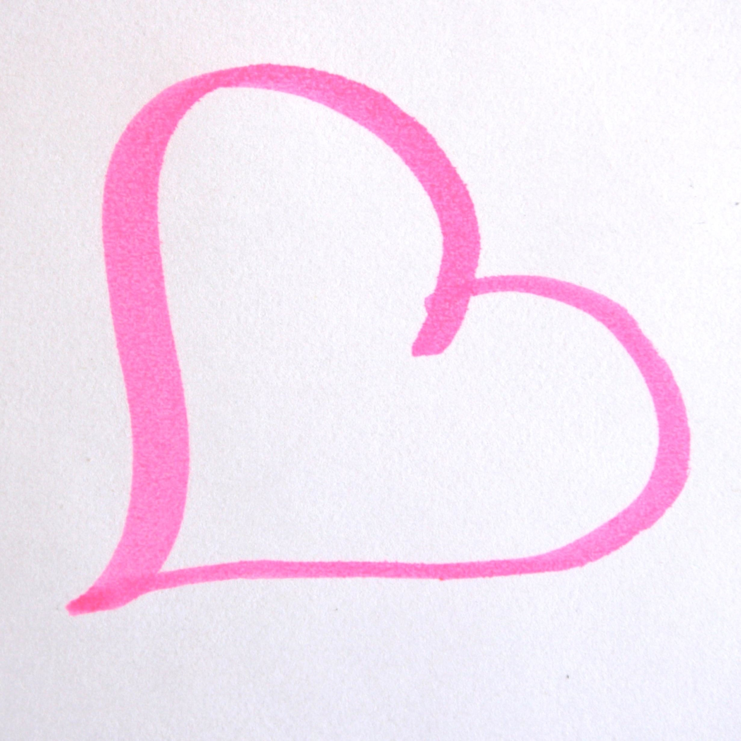 Free Picture Pink Heart Drawing Love Pink Magic Marker