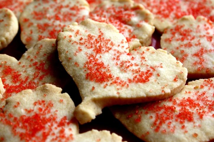 心、砂糖、クッキー