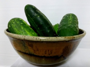 bowl, cucumbers, vegetable