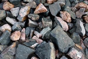 big rocks, black, red rocks, texture
