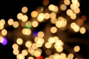 blurred lights, lights, night