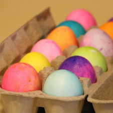 colorful eggs, carton, full, Easter eggs