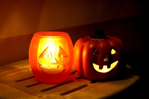 Halloween, holiday candles