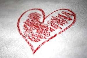 hand drawn, heart