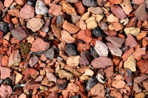 red, black rocks, gravel, texture