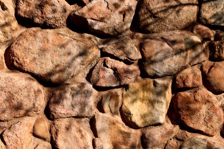 Rock, ściany, drzewa, gałąź, cienie, tekstury