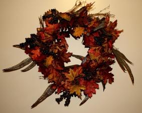 ημέρα των ευχαριστιών, το φθινόπωρο, στεφάνι