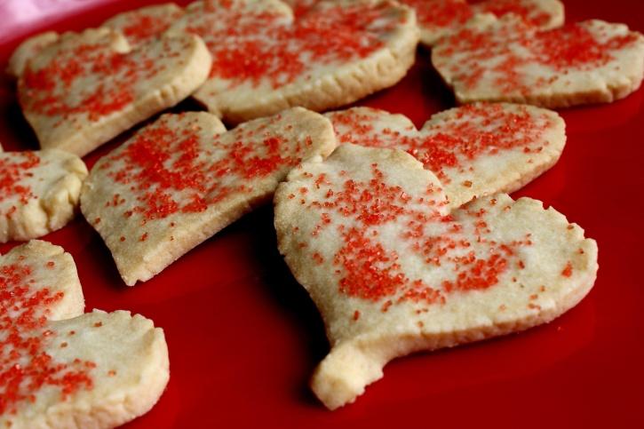 Свети Валентин, сърцето, бисквитки