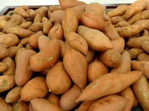 yams, sweet potatoes