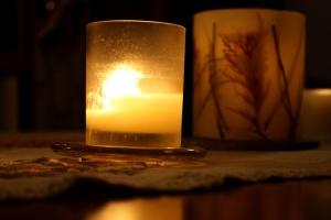 candele, ombra, decorazione