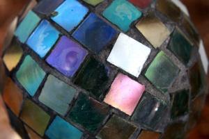 bunt, Glas, Mosaik, Kugel