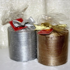 Christmas candles, gold, silver