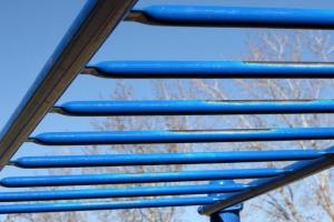 metal bars, playground