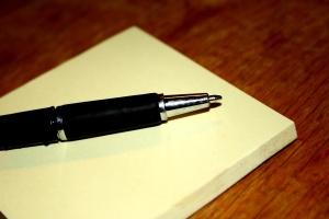 olovke, postit, bilješka