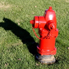 red, fire hydrant, cast iron