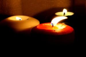 three candles, decoration