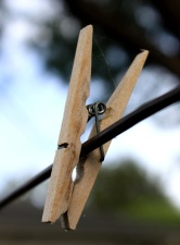 wooden clothespin, line, wooden clip, wire