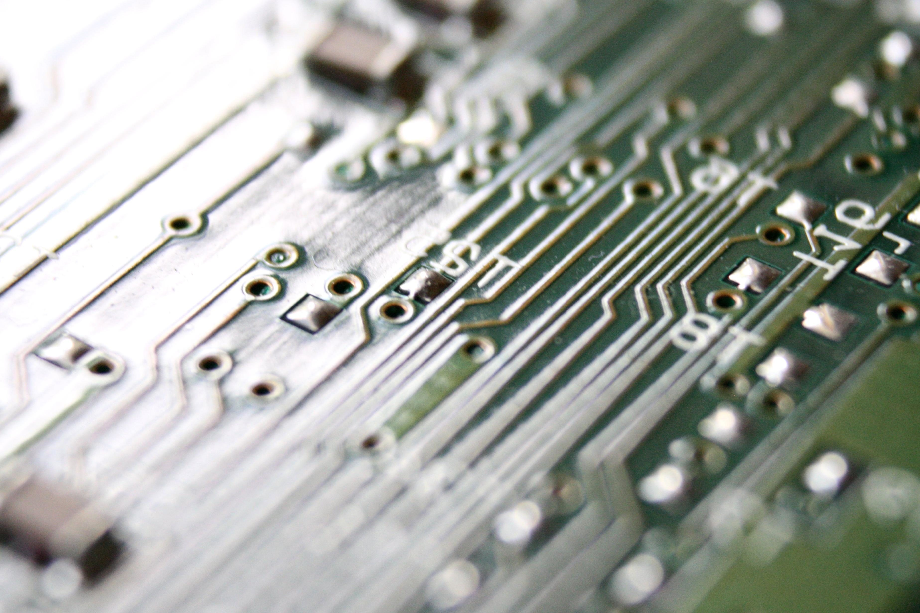 Free Picture Integrated Circuit Board Electronic Printed Royalty Stock Photography