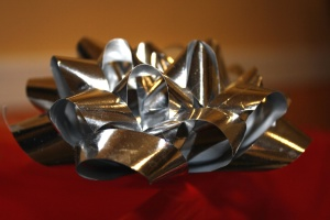 el papel de plata, metálico, arco de mylar