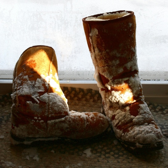 snowy boots, shoes