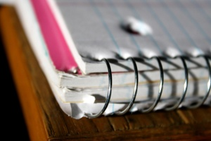 Spiraldraht, Notebook, Ecke