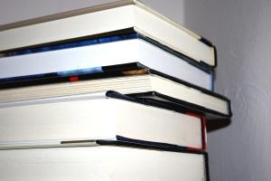 stack, books
