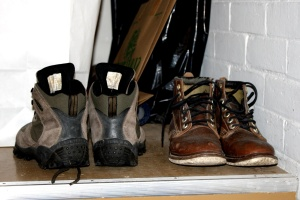 winter boots, storage, shelf, shoes