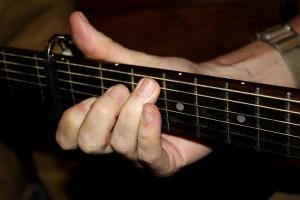 手, 弦, ギター
