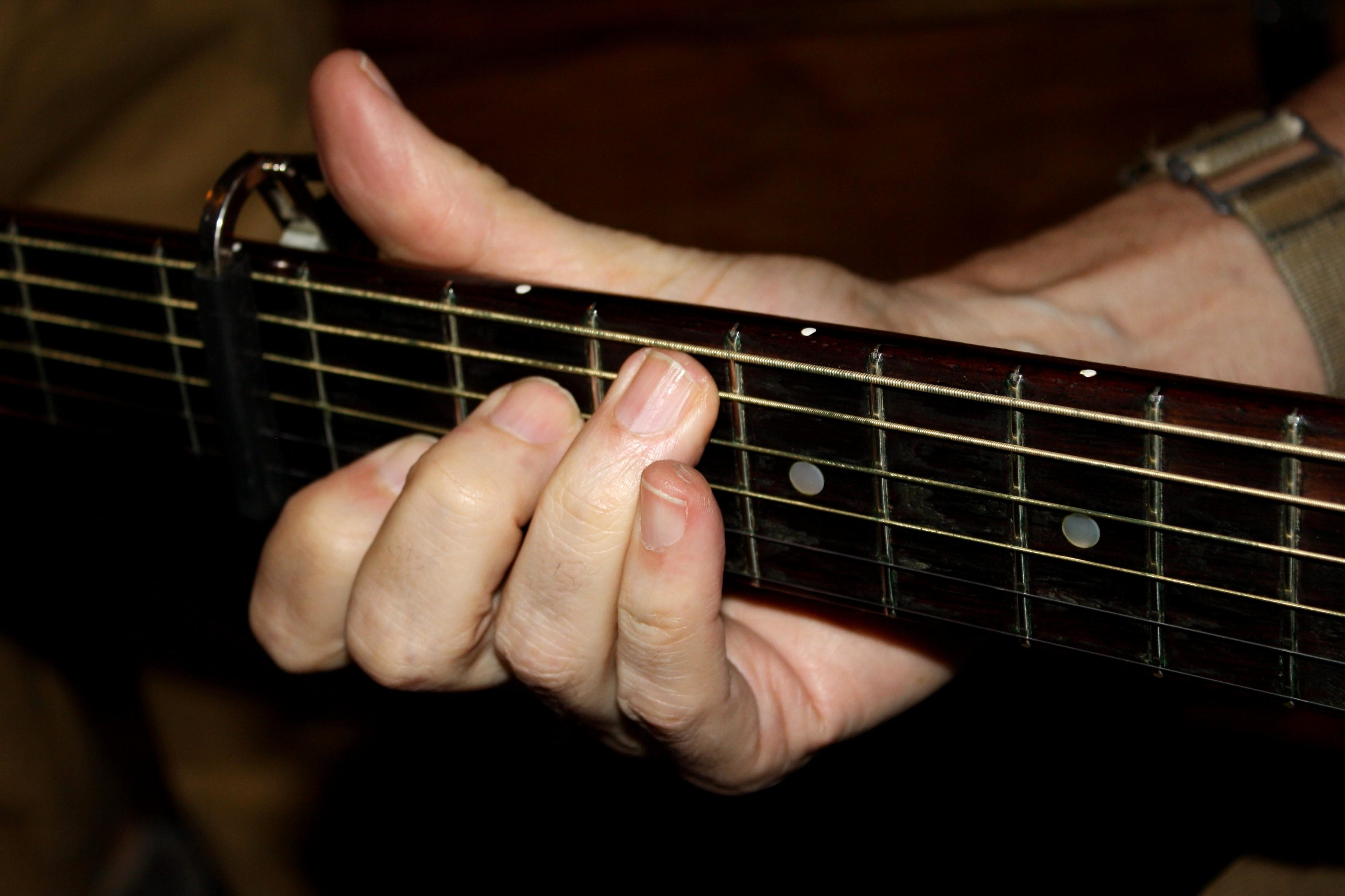 Basic Guitar Chords Pictures Hand