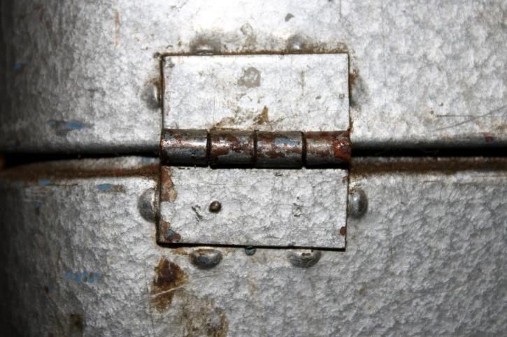 hinge, old, metal, tool box, rustic, antique