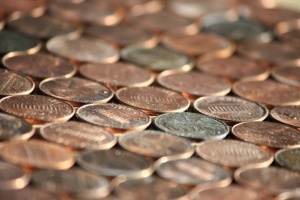 money, pennies, metal coins, penny
