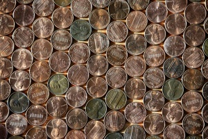 pennies, money, metal coins, economy