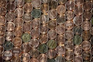 pennies, money, metal coins, economy