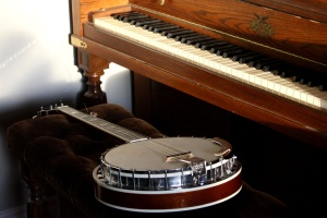 piano, banjo, instruments, music