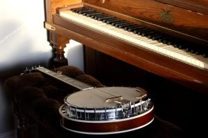 piano, banjo, instruments, music