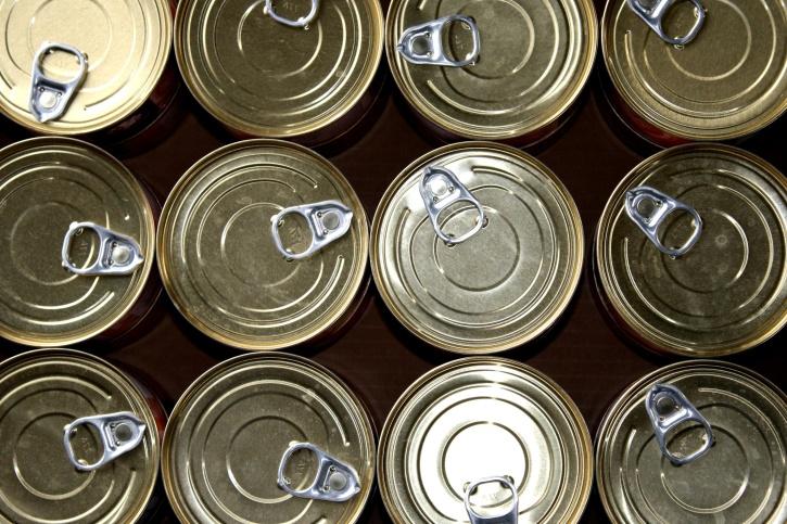 metal cans, tin
